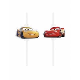 paille médaillon cars x4