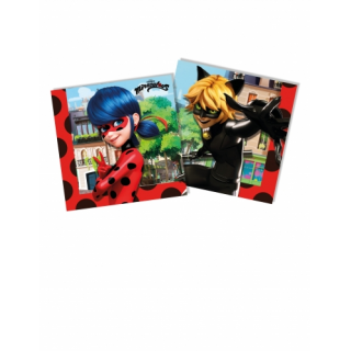 serviettes miraculous ladybug x20