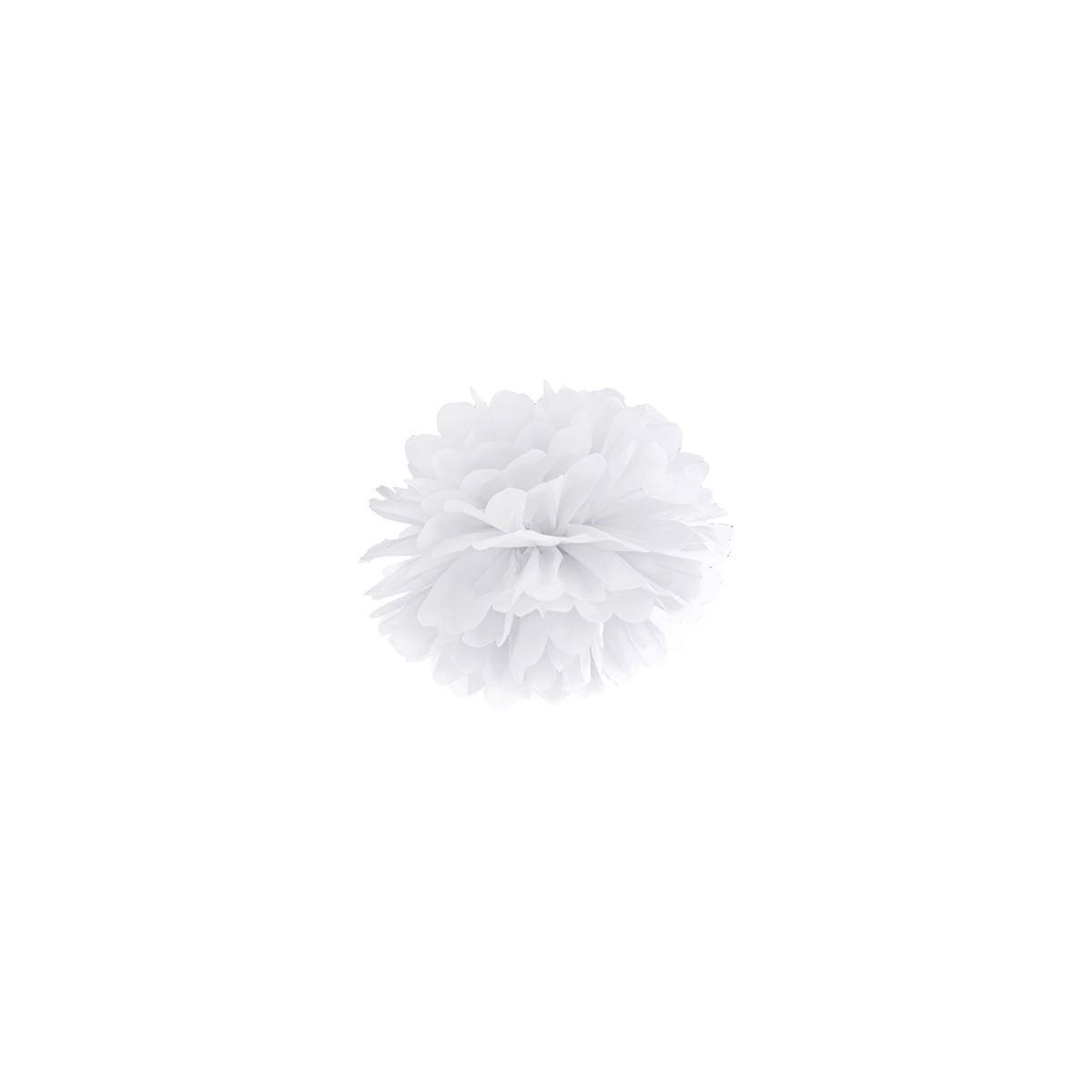 Pompon Papier de Soie 25 cm - Blanc