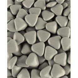1kg Dragées Coeur chocolat Gris