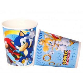 8 Gobelets Anniversaire Sonic