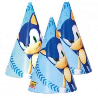 6 chapeaux anniversaire Sonic