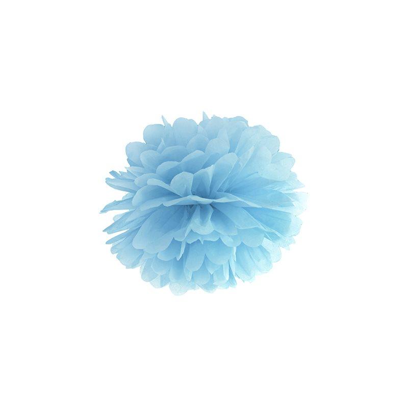 Pompon papier 25 cm - Bleu