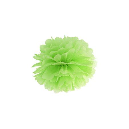 Pompon papier 25 cm - Vert