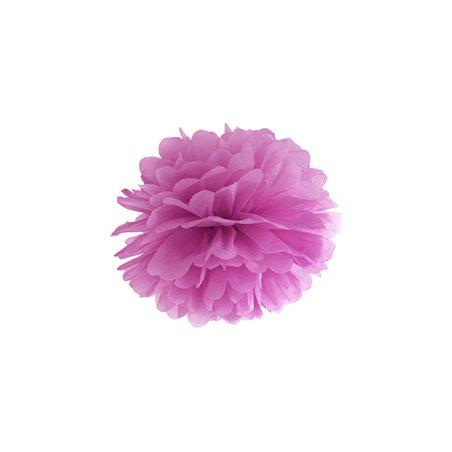 Pompon papier 25cm - Prune