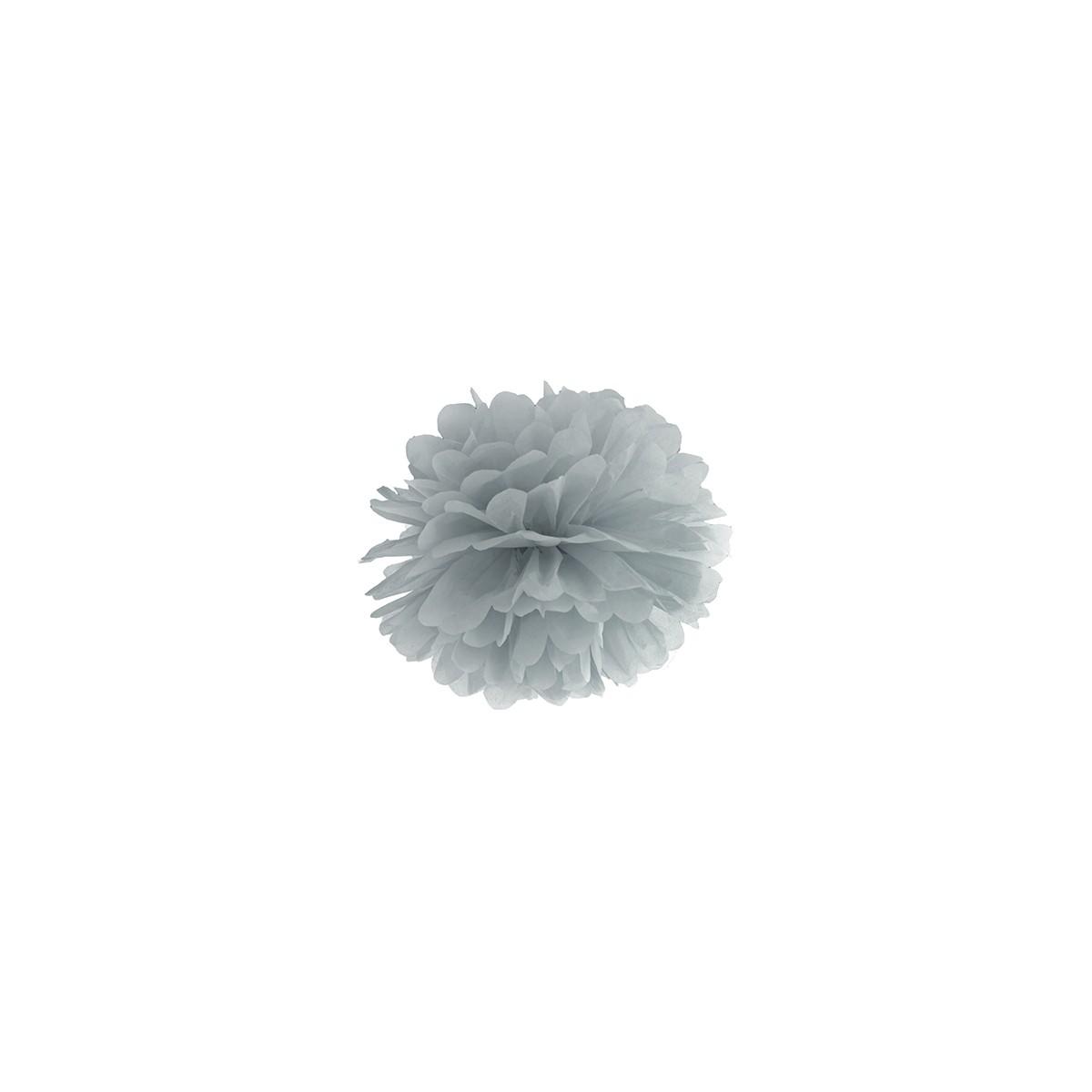 Pompon papier 25cm - Gris