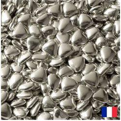 1kg Dragées Coeur Chocolat - Argent