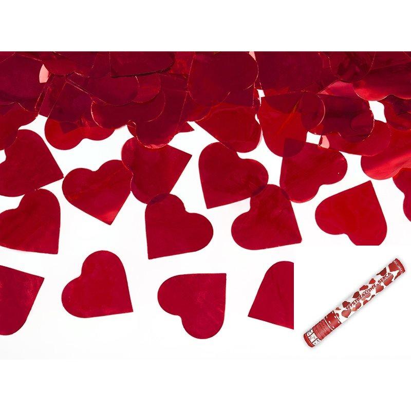 Canon A Confettis Coeur Rouge