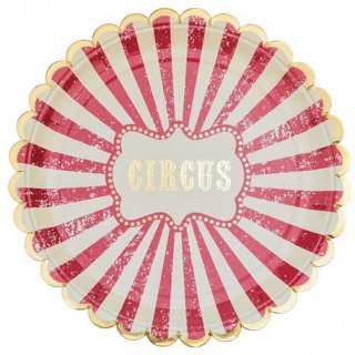 assiettes en carton cirque x8