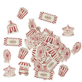 confettis de table cirque x100