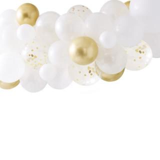 arche ballon or chromé