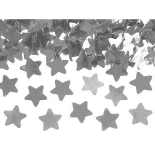 canon à confettis étoile argent 80cm