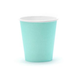 Gobelets carton turquoise x6