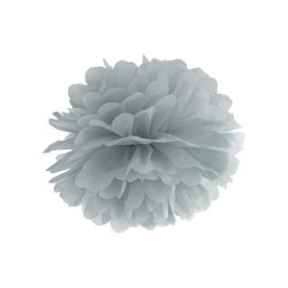 Pompon papier gris 35cm x1