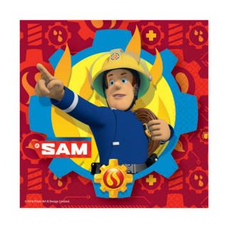 Serviettes Anniversaire Sam le Pompier