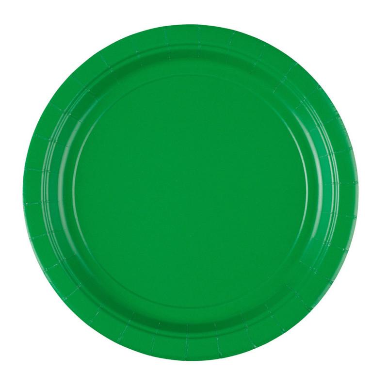 Assiettes carton Vert x8