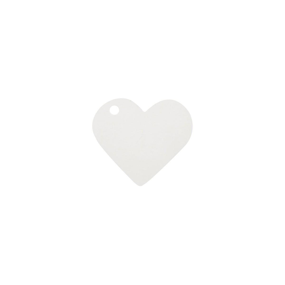 Etiquette Dragées Coeur Blanc