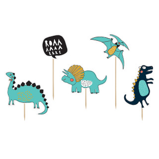 cake toppers dinosaures x 5