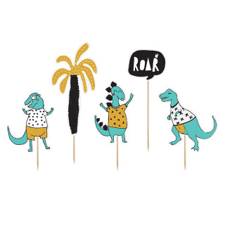 Cake toppers dinosaures grande taille x 5