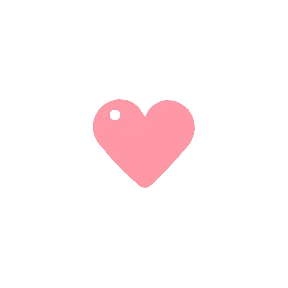 10 Etiquettes Dragees Coeur Rose
