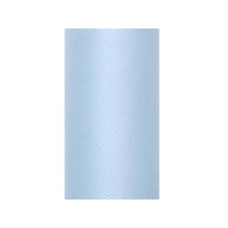Tulle bleu ciel 50 cm en rouleau x 9 m