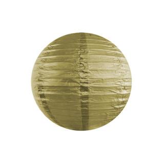 Lanterne japonaise dorée en papier 35 cm