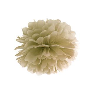 Pompon doré 25 cm en papier de soie