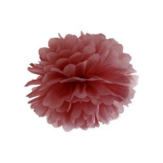 Pompon marsala 35 cm en papier de soie