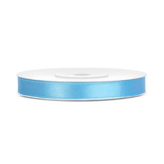 Ruban satin bleu ciel 6 mm x 25 m