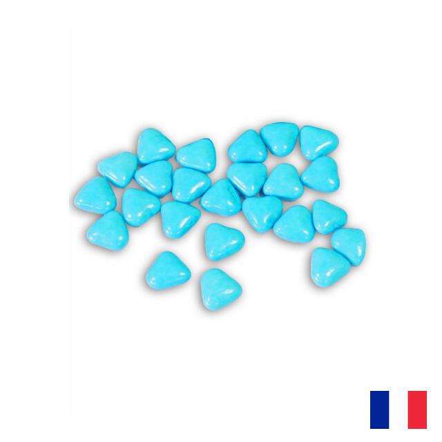 Dragées Coeur Chocolat turquoise