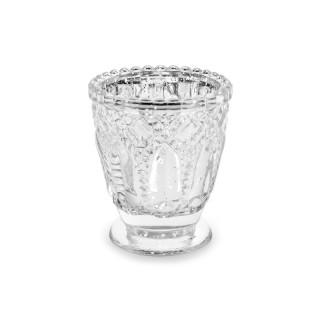 Photophore argenté en verre