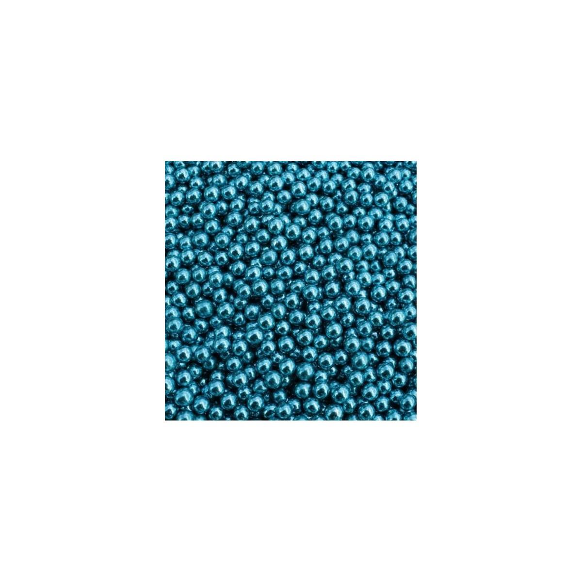Dragées Perle Bleu Argenté 100g