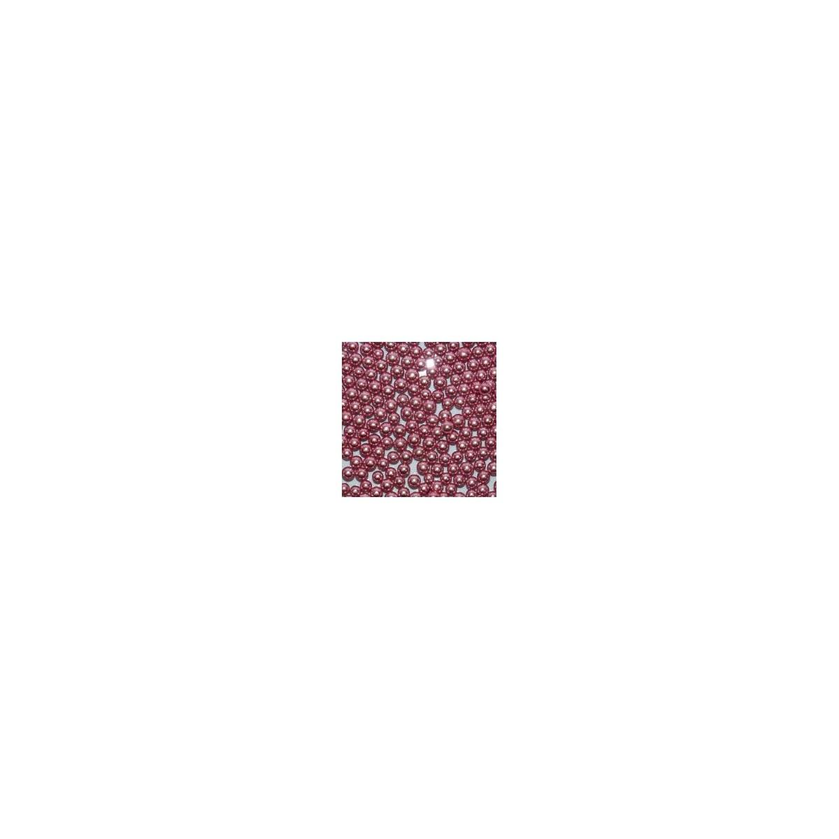 Dragées Perle Rose Argenté 100g