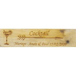 Panneau mariage personnalisé en bois