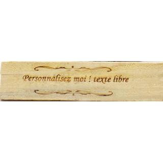 Pancarte personnalisée en bois