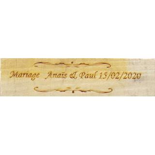 Pancarte mariage Servez-vous personnalisé en bois