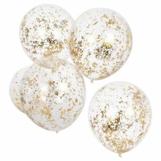 ballons-confettis-or