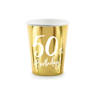 gobelets carton anniversaire 50 ans dorés