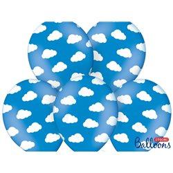 6 Ballons Nuage Bleu