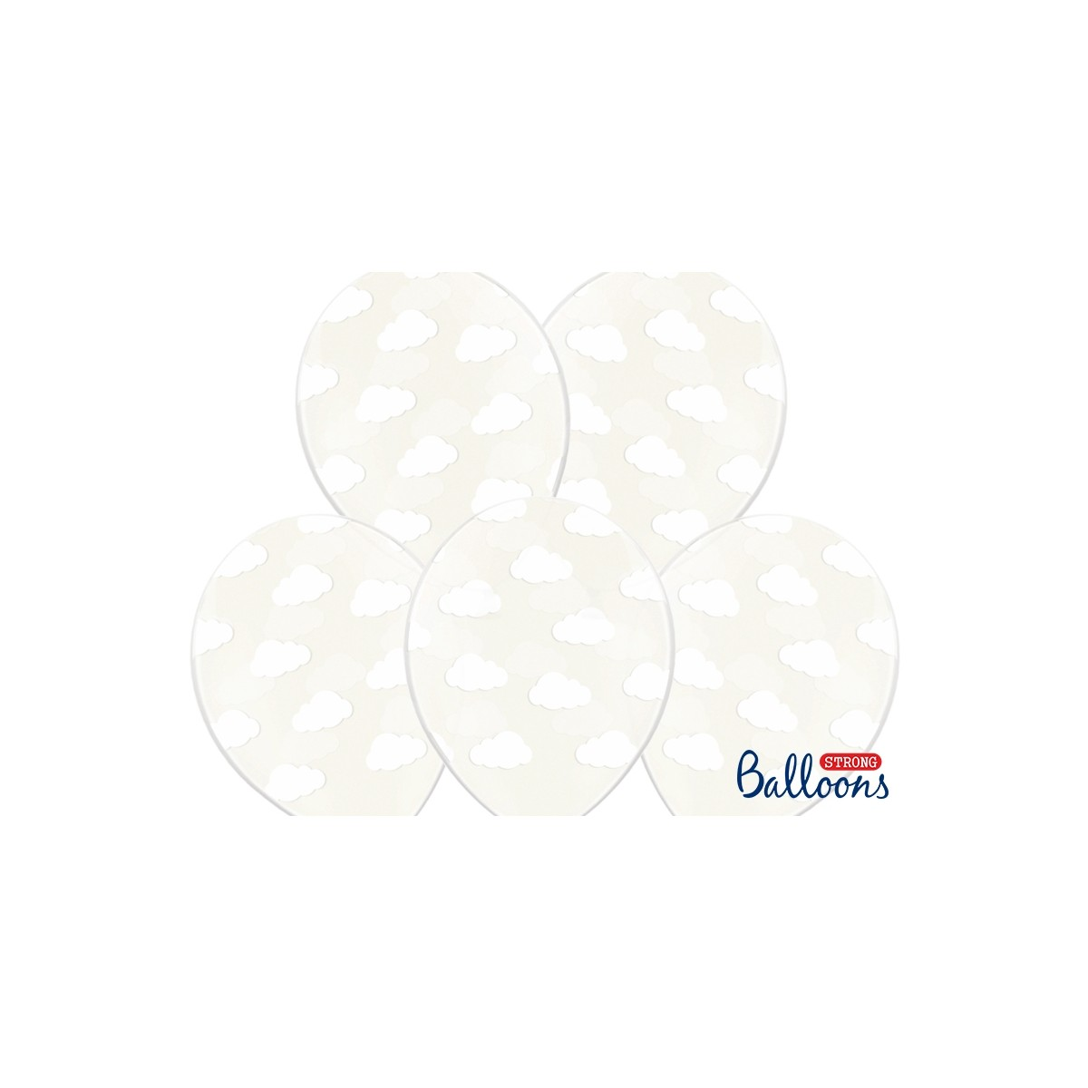 6 Ballons Baudruche Nuage Blanc