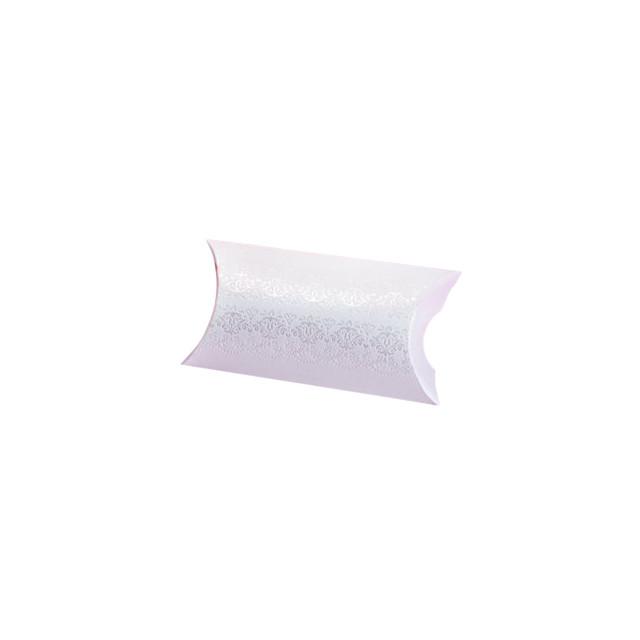 10x Ballotin Dragées Blanc Ornement