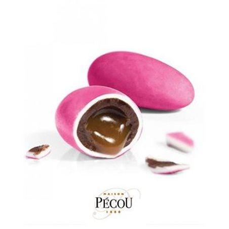 1kg Dragées Liquicroc Caramel Beurre Salé - Rose