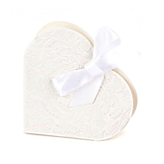 Boites Dragées Mariage Cœur Blanc