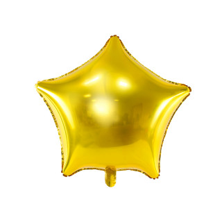 Ballon étoile or mylar aluminium