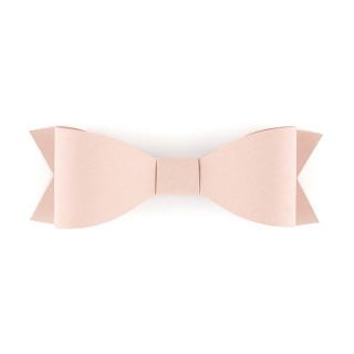 nœuds adhésifs rosé poudré en papier