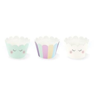 Caissettes cupcakes licorne