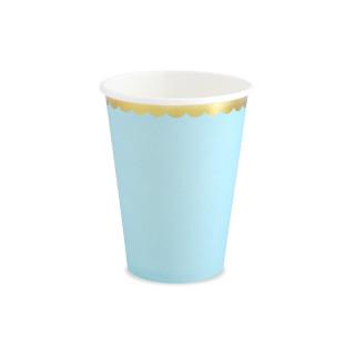Gobelets bleus liseré doré en carton