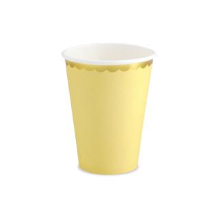 gobelets carton jaune