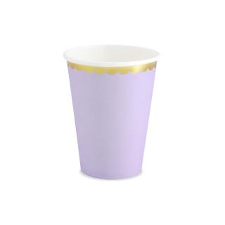 Gobelets lilas en carton