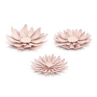 Décorations fleurs différentes rose poudré